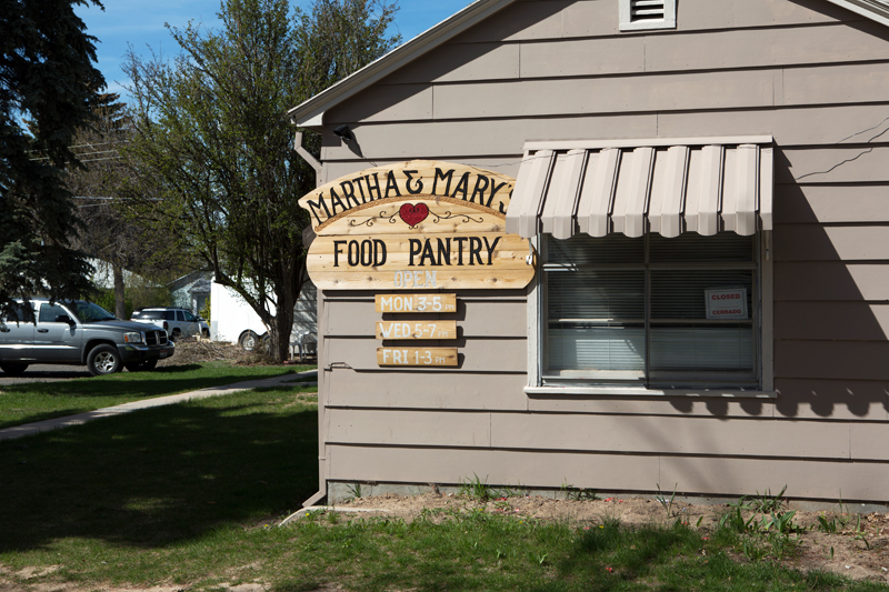 St. Jerome Parish food pantry.